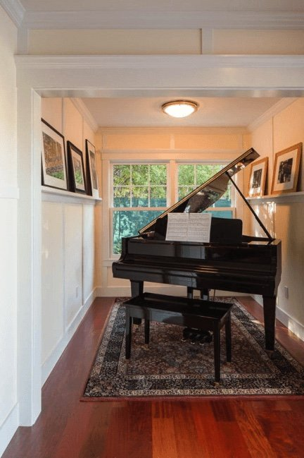 small piano in tight space