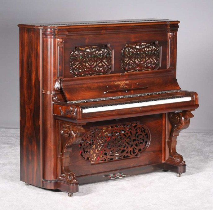 old Steinway upright piano