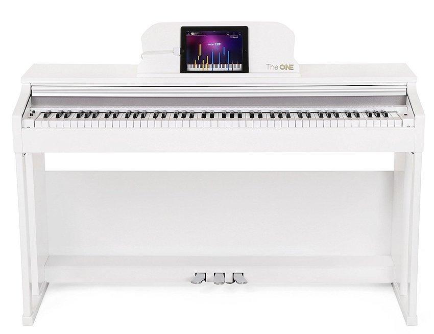 The ONE Smart Piano 88-Key Home Digital Piano Grand Graded Action Upright Piano – Classic White
