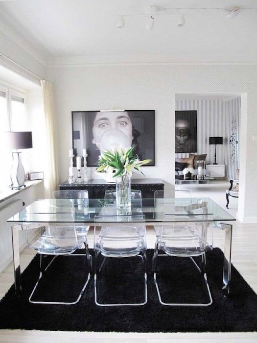 Transparent dining room set