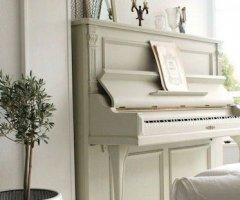 white upright pianos still popular
