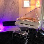 aire white baby grand piano