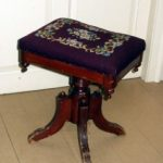 antique pianos stool with cushion