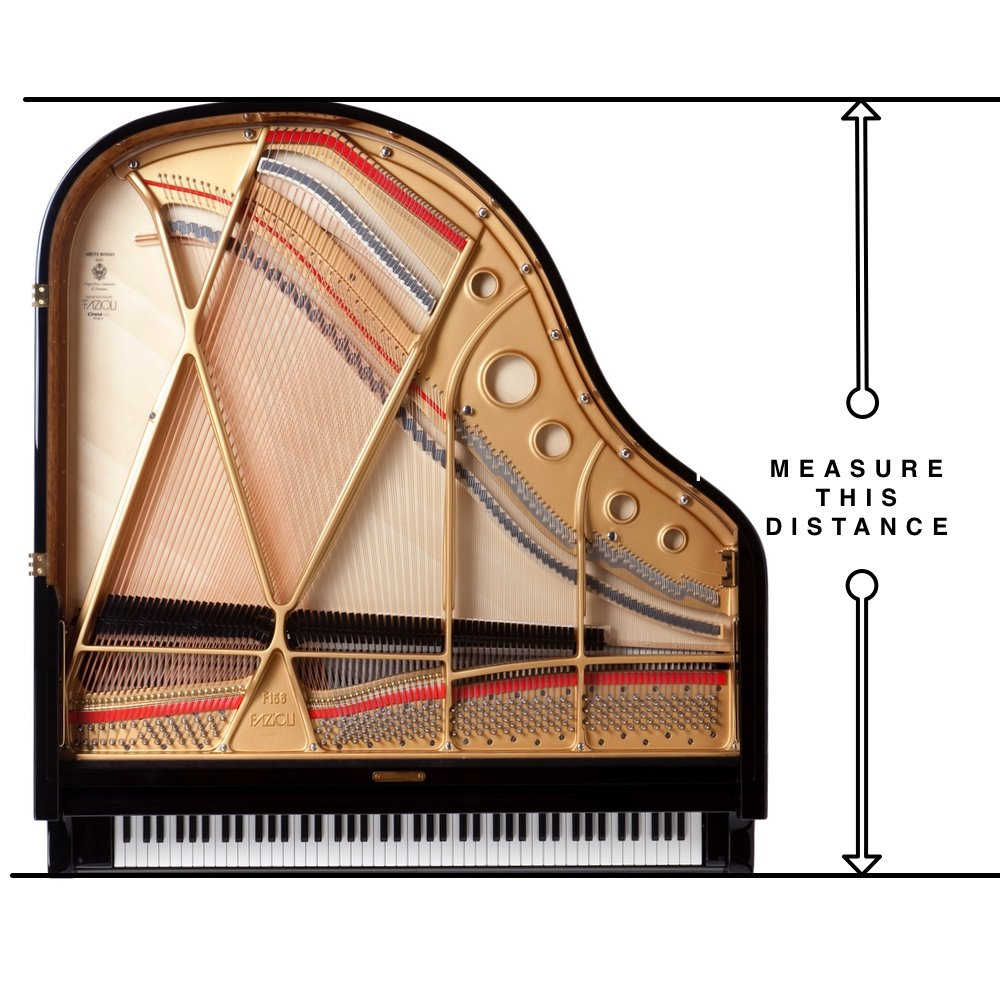 Baby grand piano dimensions euro pianos for Size of baby grand piano