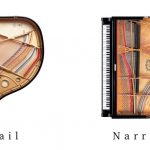 baby grand piano wide tail vs narrow tail