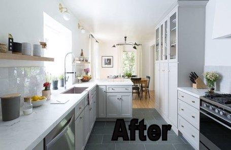 completed redecorated home