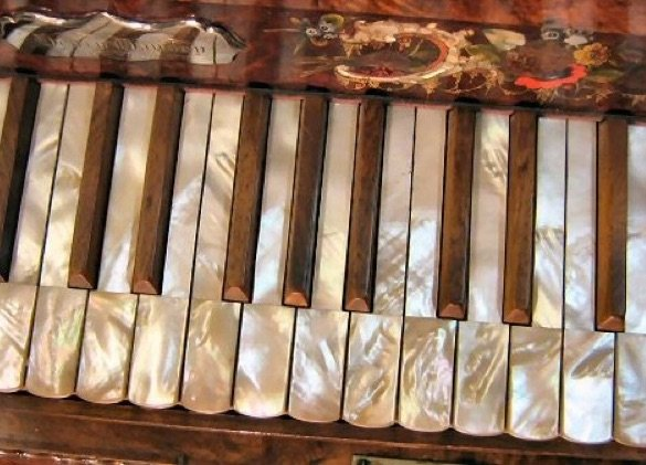 Mother of Pearl antique Steinway grand piano keyboard