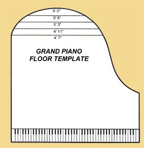 Baby grand piano dimensions euro pianos for Small grand piano size