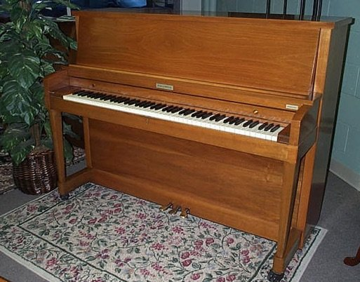 studio upright piano