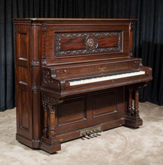 victorian upright piano