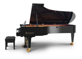 What really defines this largest of all grand pianos is more than its size (roughly nine or ten feet in length or 2.75 to 3.05 meters). Most are around nine feet long, though the Bösendorfer Imperials, of the Austrian concert pianos, are 9½ feet and the Fazioli, the Italian concert grand is 10 feet.