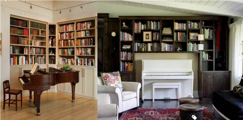 Tuck a baby grand into a cozy niche, just as you might an upright piano.