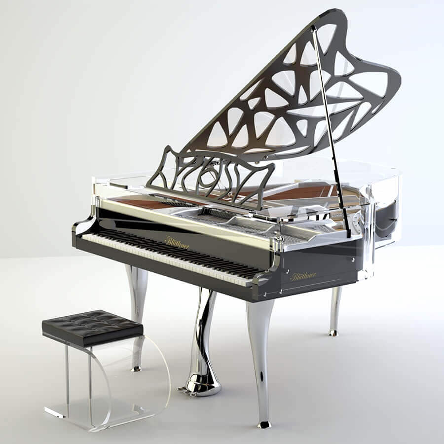 Bluthner Hive Elegance baby grand piano 1