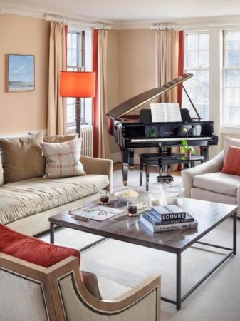 decorating a room with piano in mind