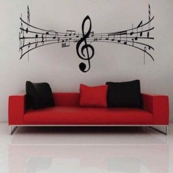 music decorating on a wall
