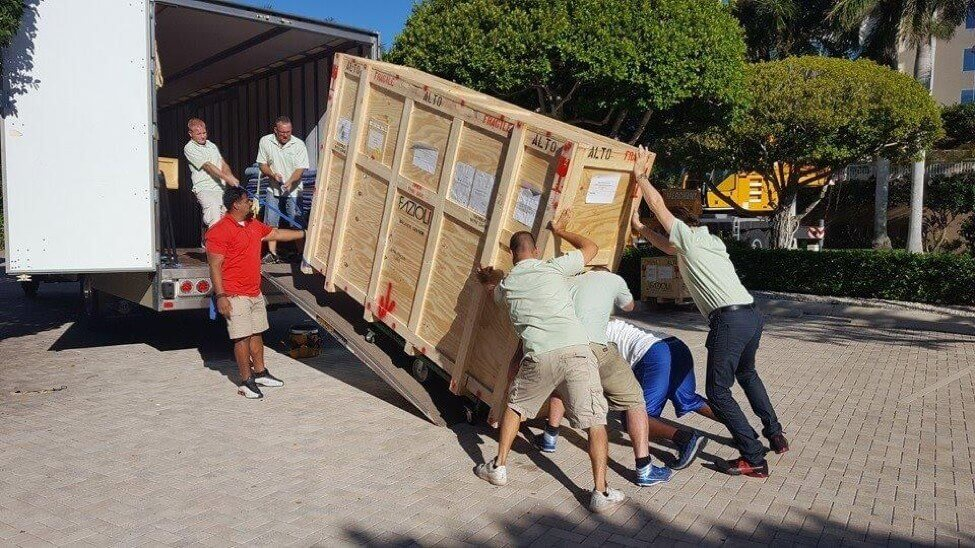 concert grand piano moving