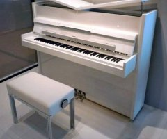 decorate room with white piano