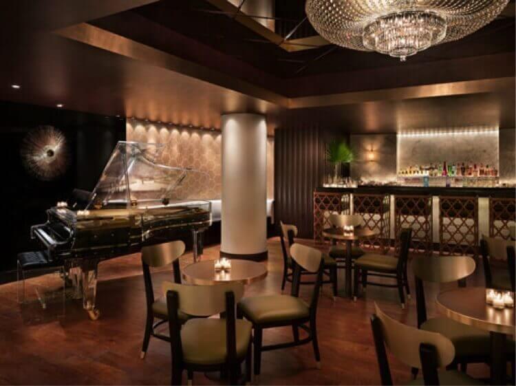 Glass Piano at Delano Hotel in Miami