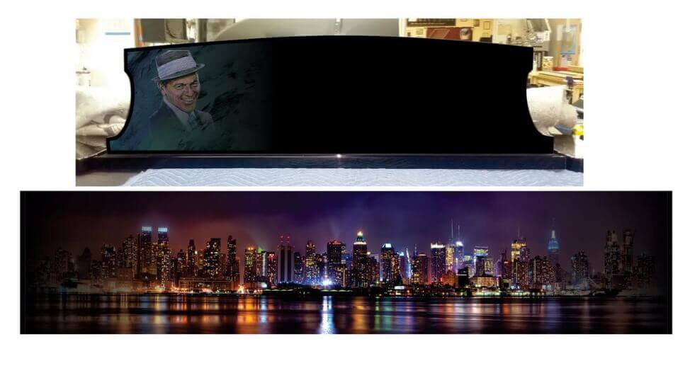 frank sinatra picture on a piano