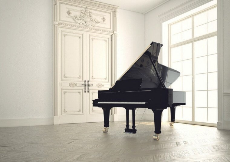 steinway grand piano in interior