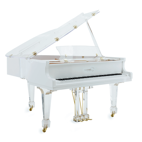 Clear Baby Grand Piano For Sale: Clear Acrylic Piano For Sale