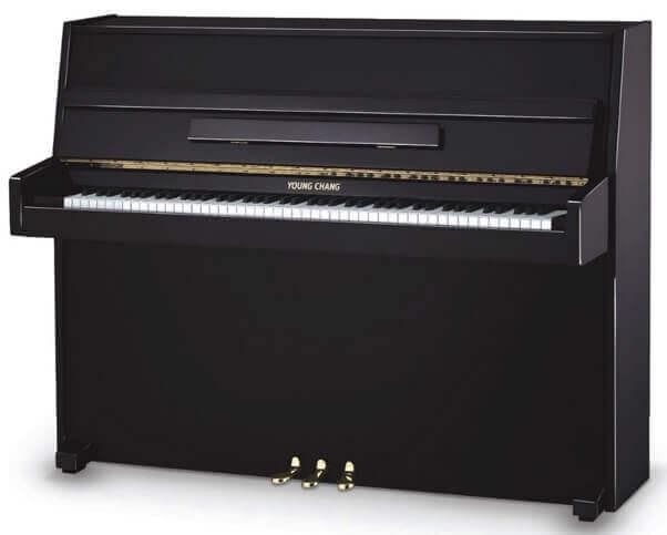Continental style console piano