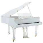 Euro Pianos AIRE™ white with brass