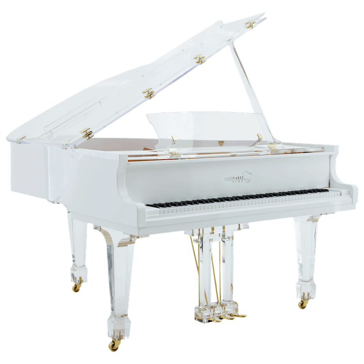 Euro Pianos AIRE white with brass
