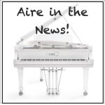 "The ""Aire"" Acrylic Baby Grand Piano Making a Media Splash!"