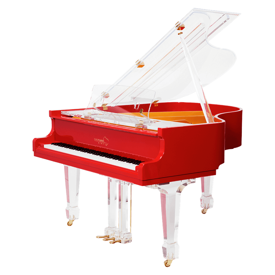 Aire™ Red Baby Grand Piano