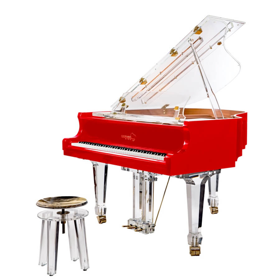 Aire Red Baby Grand Piano for Sale