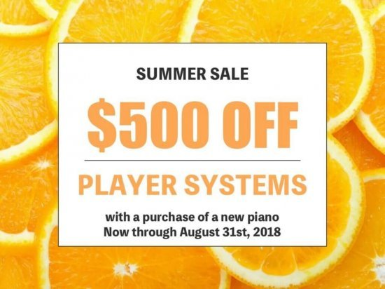 Summer sale - Pianodisc player systems