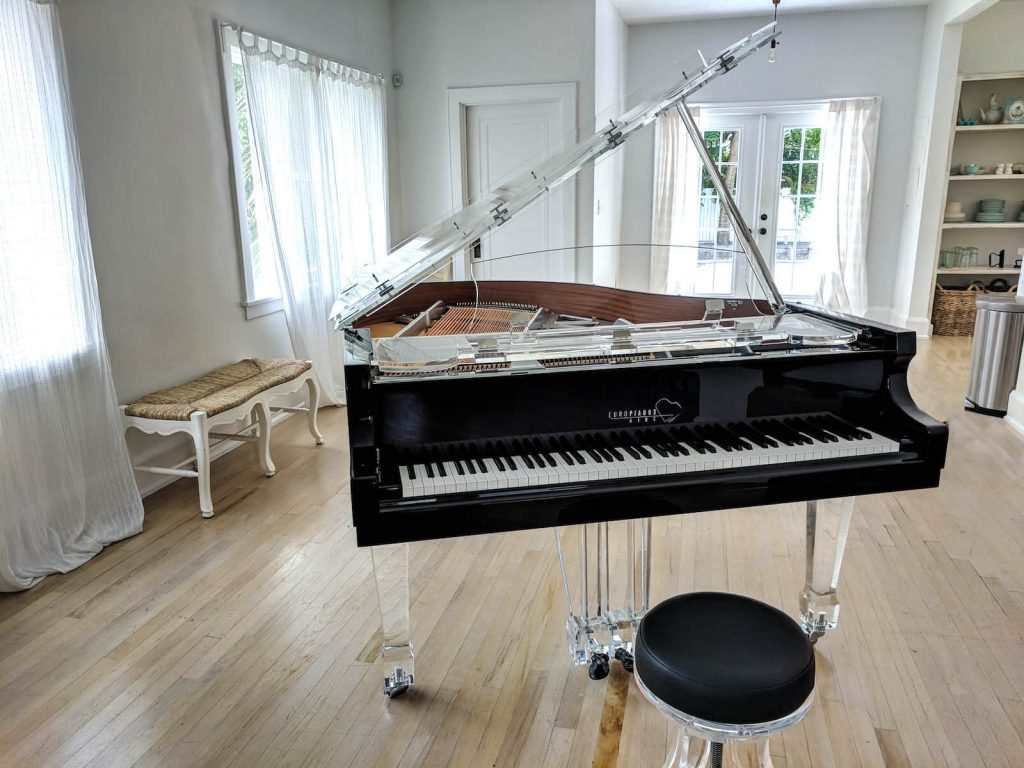 Aire Acrylic Clear Baby Grand Piano For Sale Euro Pianos