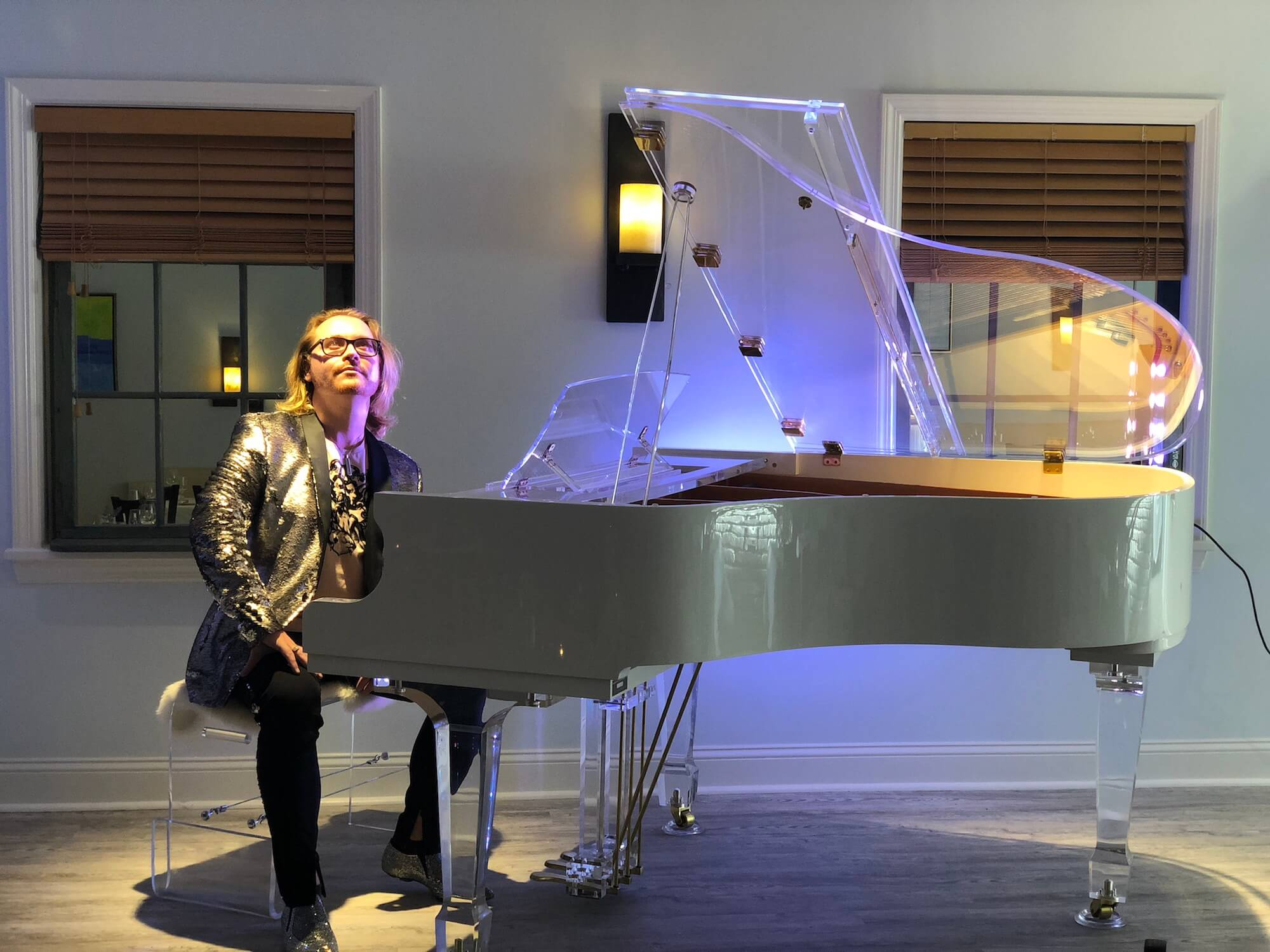 Aire™ acrylic piano in Southampton