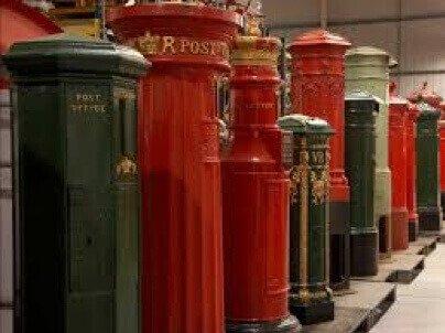 English red pillar boxes