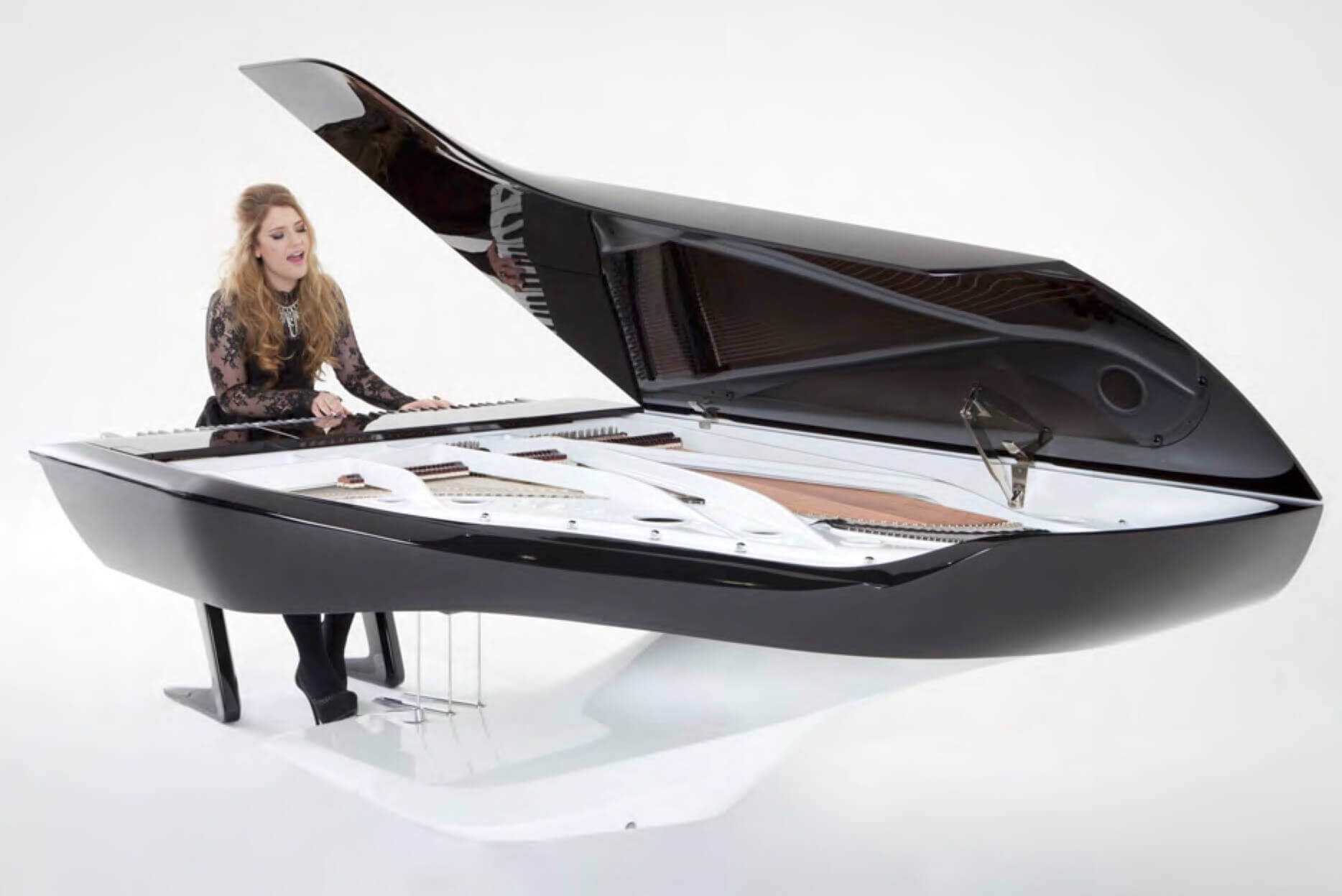 Pleyel grand piano designed by Peugeot Design Lab