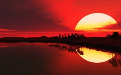 red colored sunset