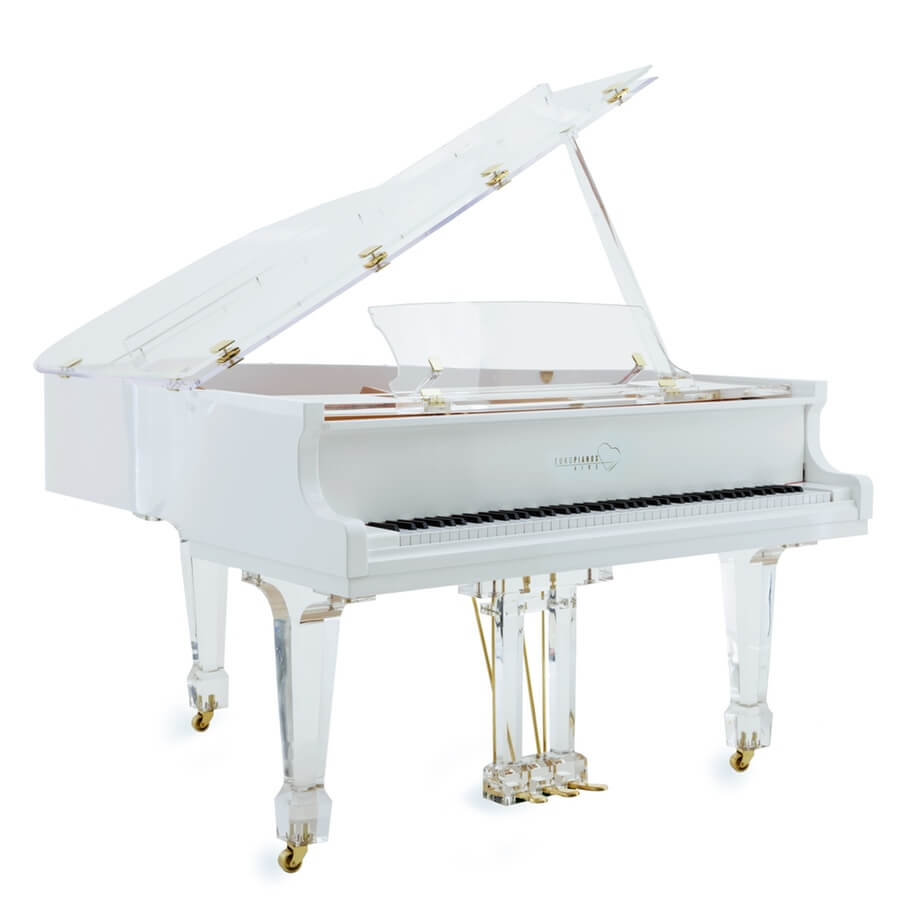 Aire™ acrylic piano_white_brass_1