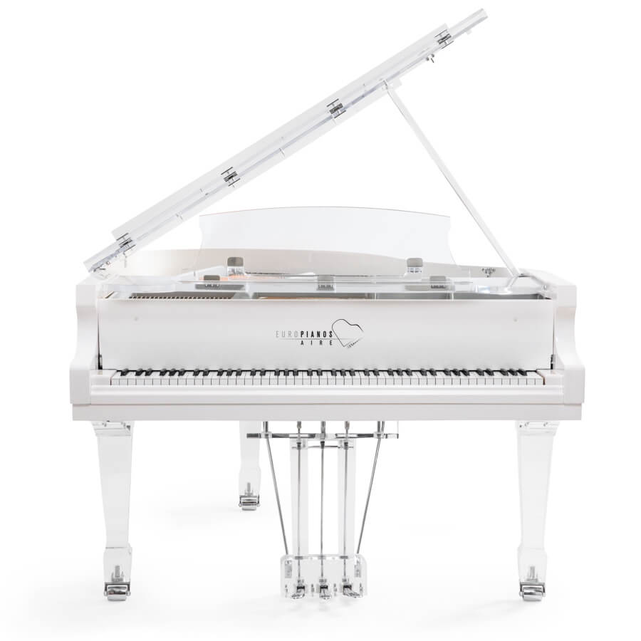 Aire™ acrylic piano_white_chrome_1