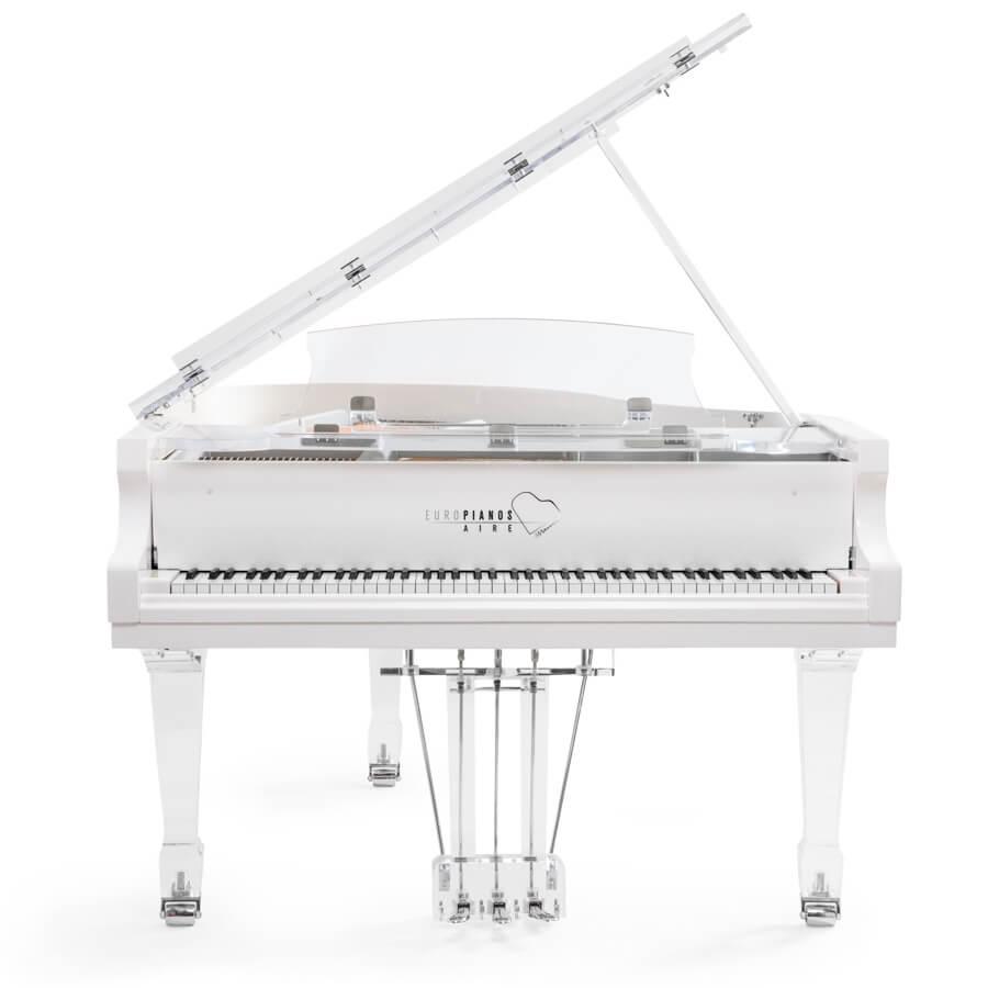 Aire™ acrylic piano_white_chrome_1