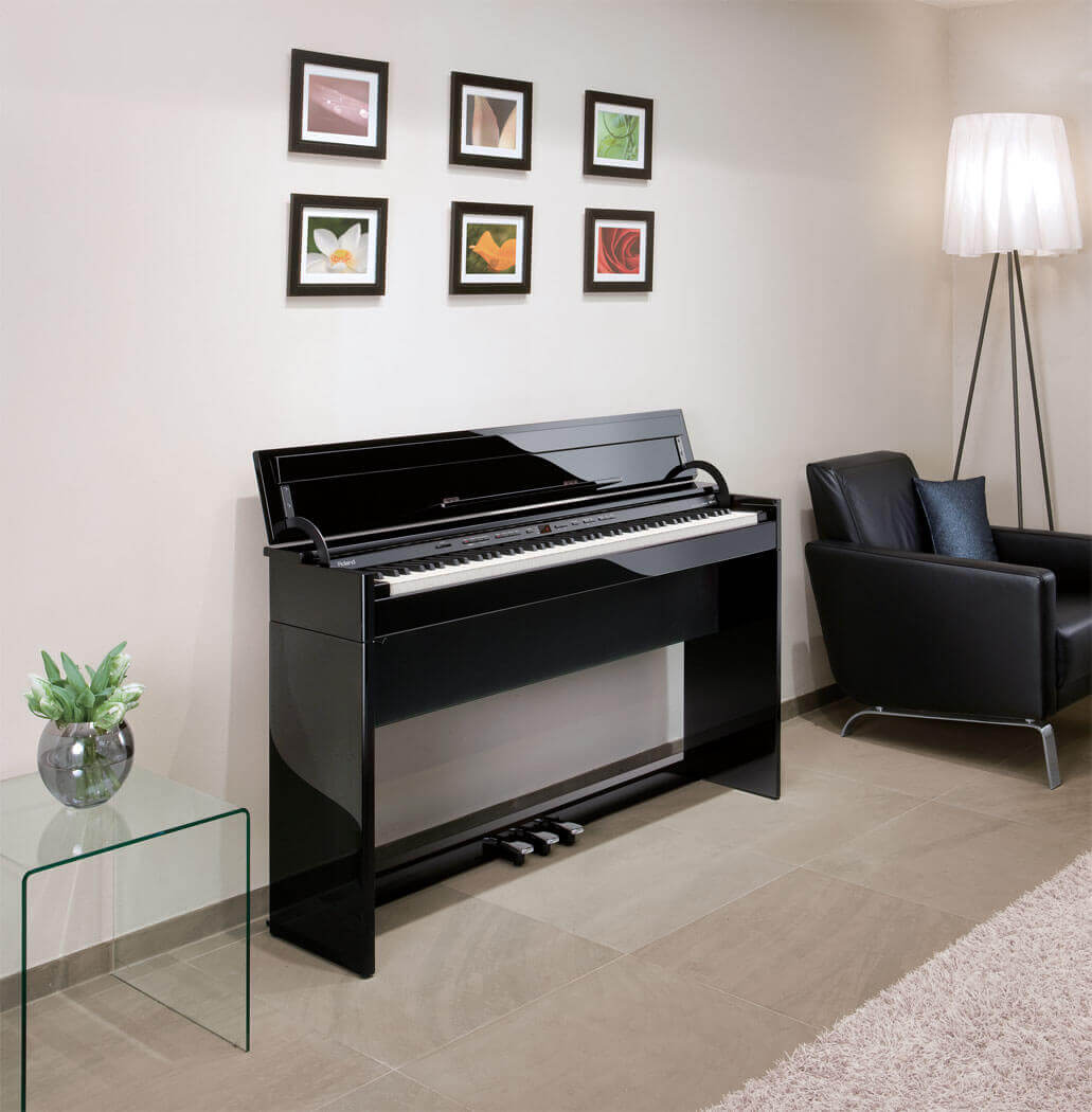 digital piano room idea