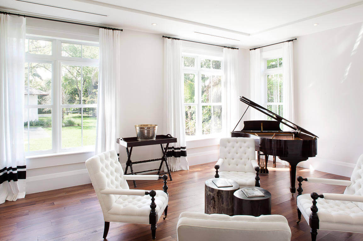 how to place a baby grand piano in a room