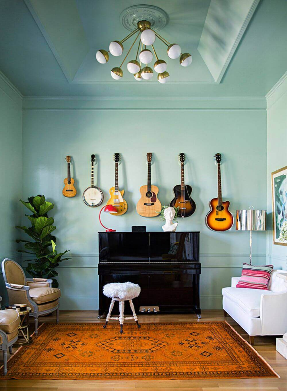 piano room decorating idea