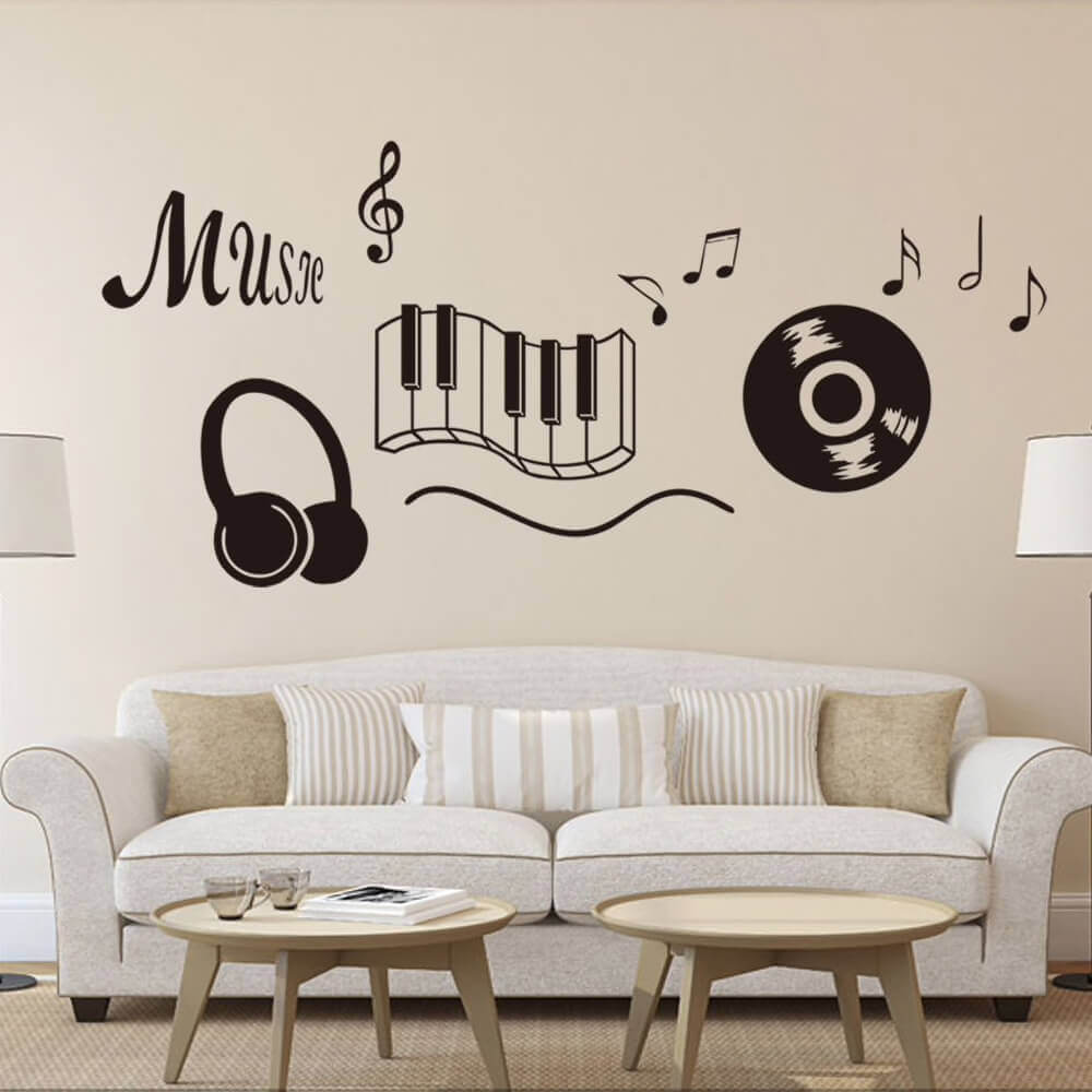 wall decorating ideas music notes