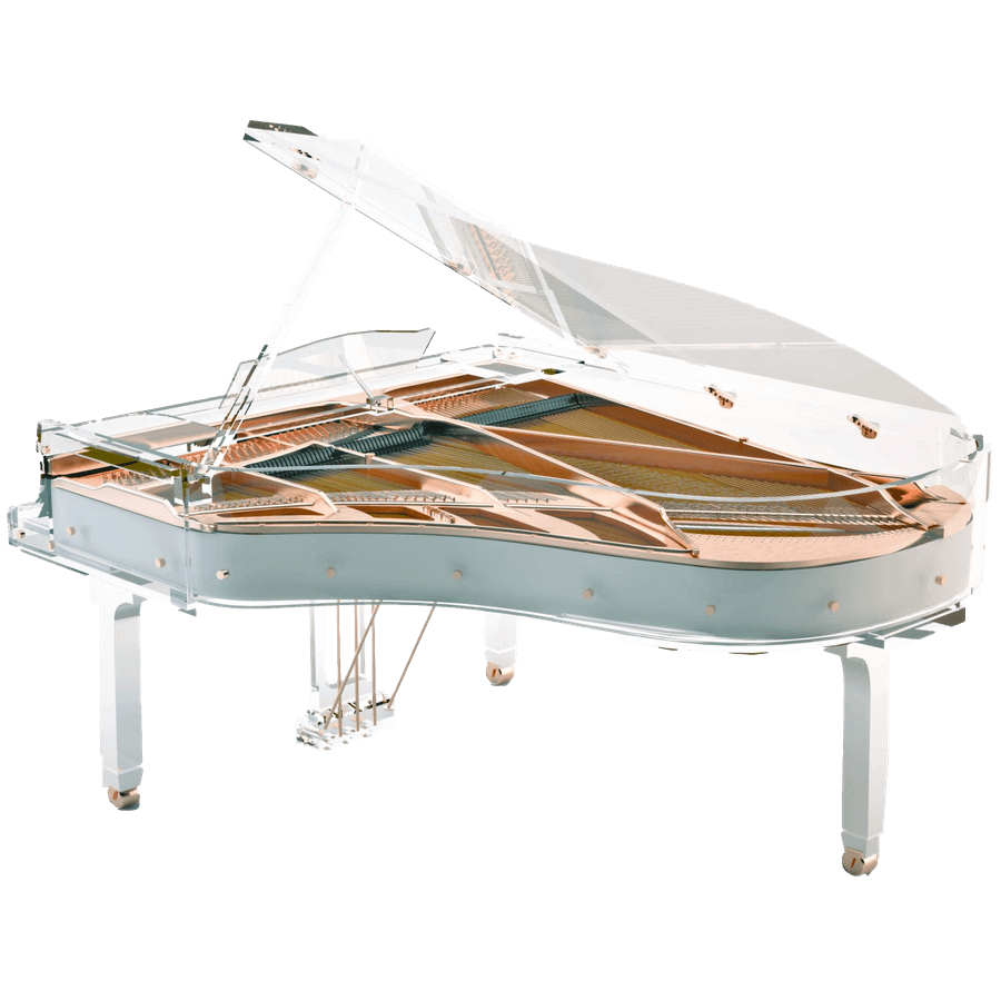 Aire Acrylic Clear Baby Grand Piano For Sale