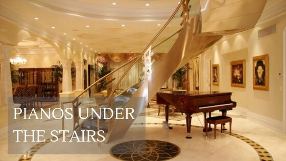 pianos under the stairs ideas