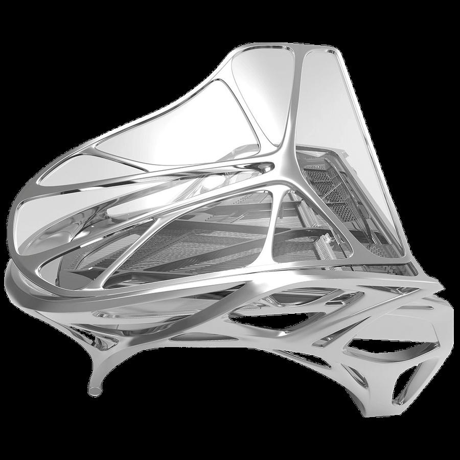 Bluthner Lucid EXO modern transparent piano_1