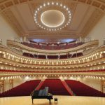 Concert hall with a grand piano