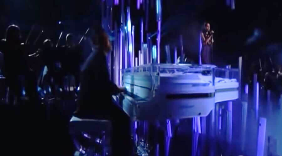 Acrylic transparent piano that Ariana Grande used during the Grammys