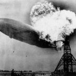 Hindenburg in flames